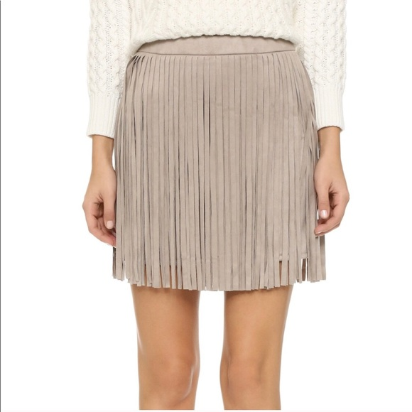 BB Dakota Dresses & Skirts - Faux suede fringe B.B. Dakota skirt